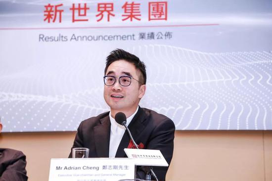 郑志刚正在25日的团体功绩公布会上 图自港媒