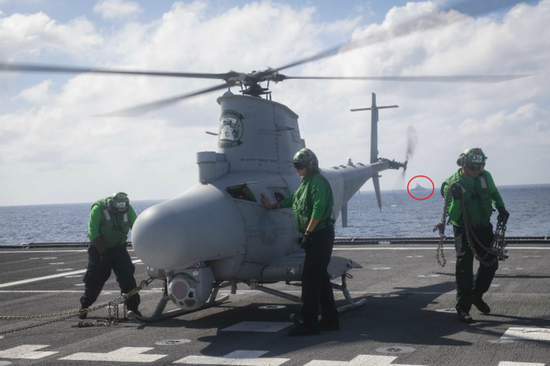 美濒海舰载反舰导弹在南海航行 我054A舰抵近监视(图)