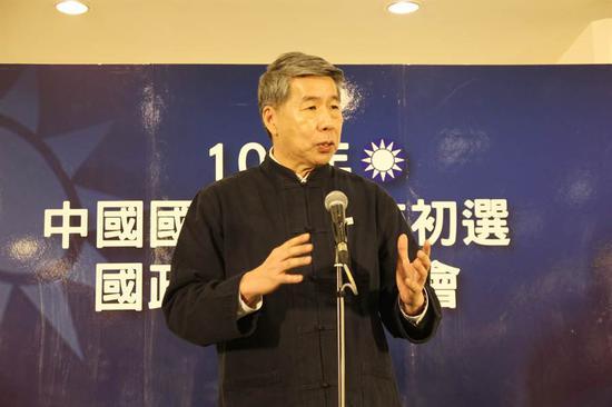"""台湾""""孙文学校""""校长张亚中宣布参选国民党主席"""
