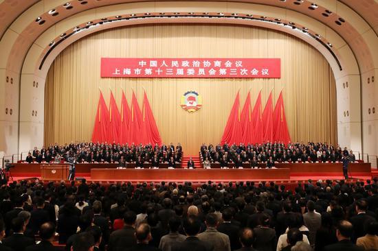 上海政协十三届三次会议38.95%提案聚焦经济发展图片