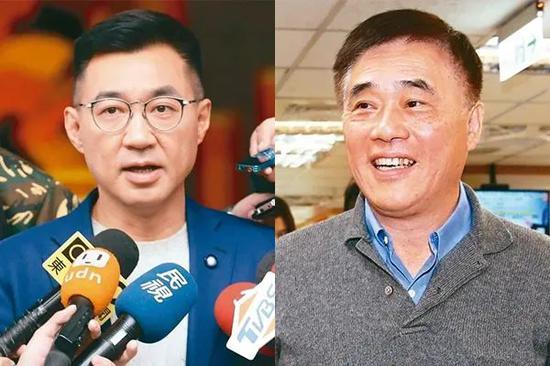 江启臣(左)、郝龙斌(右)
