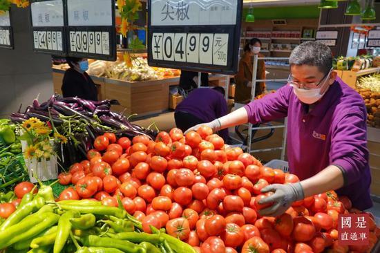 媒体:疫情扰动中国物价图片