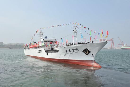 """海上""""战疫""""!北京14艘远洋渔船严防疫情""""上船""""图片"""