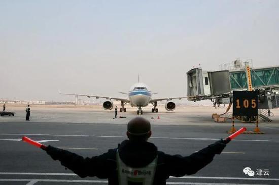 飞北京航班在天津机场入境后,发现1人体温异常图片