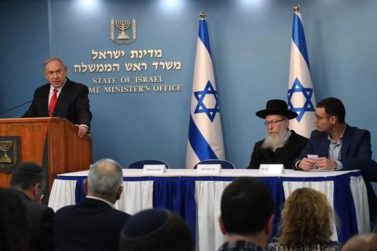 以色列总理内塔尼亚胡宣布拨款28亿美元稳定经济、对抗新冠病毒引发的恐惧 摄影|<img src=