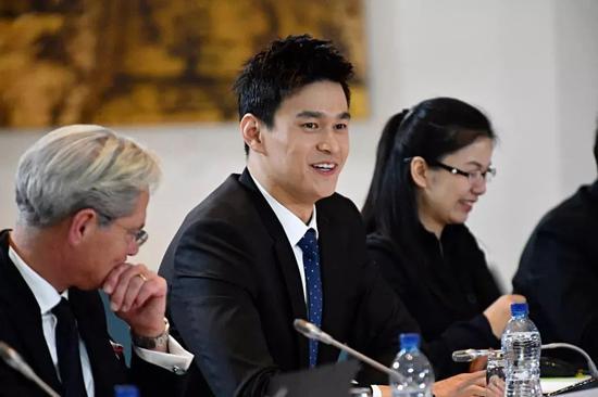 2019年11月,孙杨在听证会上 图源:新华社