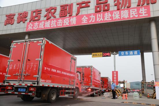 京冀联合保供北京!河北大批果蔬类生活物资今抵北京图片