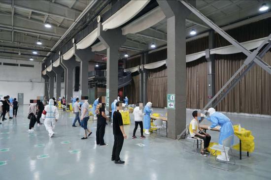 北京朝阳区已完成23万人核酸检测采样图片