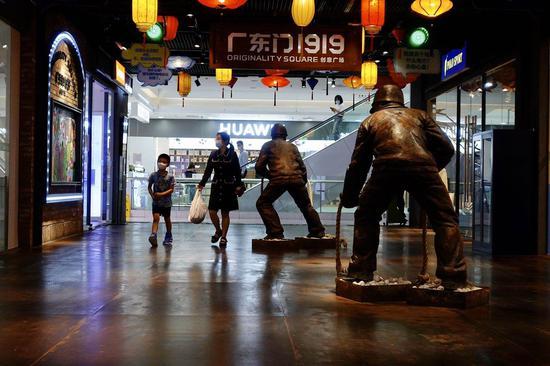 7月9日,石景山万达广场从新规复营业。新京报记者 李凯祥 摄