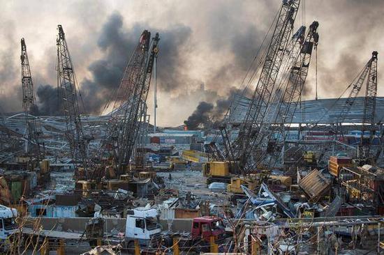 美国研究人员认为黎巴嫩大爆炸另有它物 硝酸铵爆炸应是黄色烟云不该是红云
