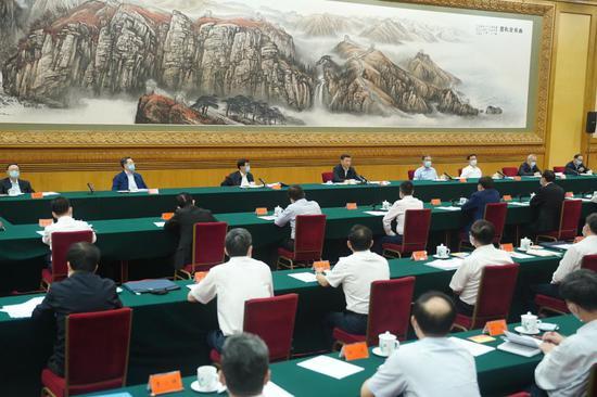 2020年7月21日,习近平在京主持召开企业家座谈會并揭橥重要发言。新華社记者 鞠鹏 摄