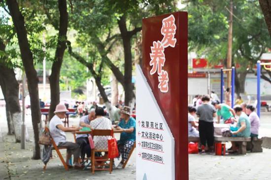 ▲柳州擎苑社区是一个以柳州五菱柳机动力有限公司等11家驻区单位企业的职工家属组成的单位型社区。