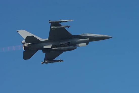 F-16战机资料图(图片来源:台湾《联合报》)