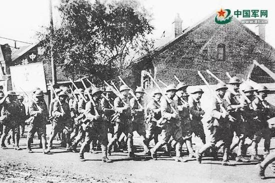 资料图:日军占领吉林市。图片来源:中国军网