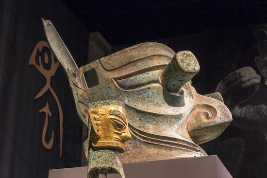 三星堆青铜纵目面具与青铜人头像 广西师范大学出书社 图