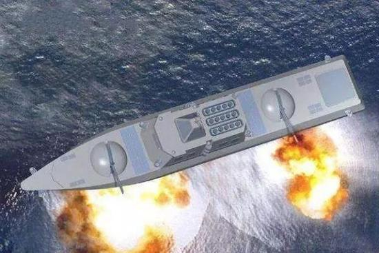 ▲半潜式武库舰想像图