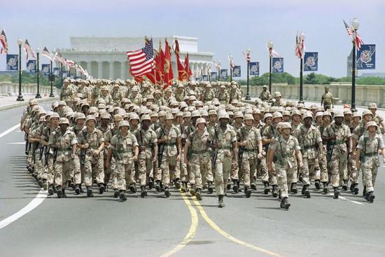 ▲美国上一次举行阅兵仪式还是1991年。(美联社)