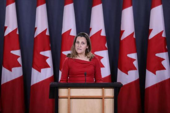 ▲加拿大外交部長弗裏蘭(視覺中國)