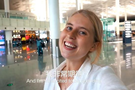 (澳大利亚女孩Amy,视频截图。)
