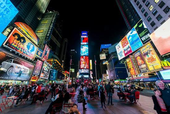 2013年的纽约时报广场。