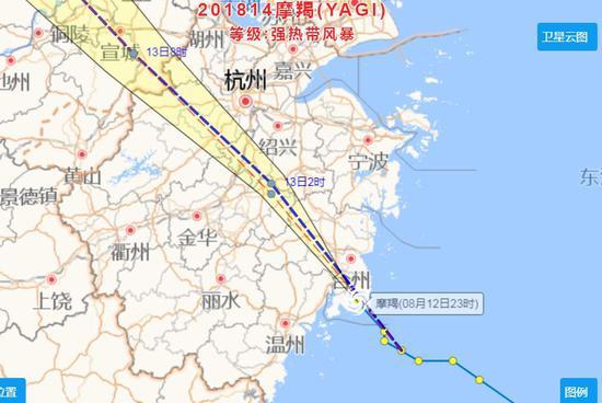 """台风""""摩羯""""登陆 杭州萧山机场多个航班停飞"""