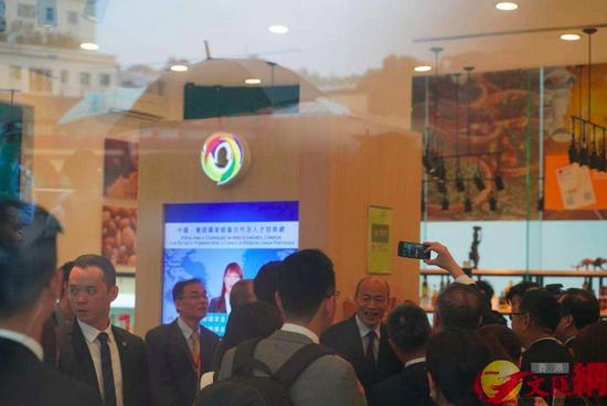 韩国瑜参观葡语国家食品展示中心