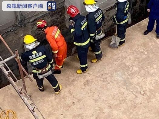 西安临潼一施工点发生坍塌事故图片