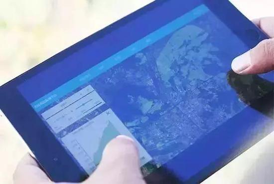 ▲打开iPad 上的耘境,就能科学管理农田
