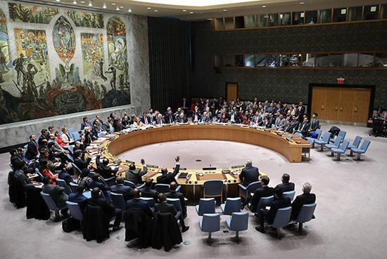 当地时间2018年4月10日,美国纽约,联合国安理会未通过由禁化武组织调查叙利亚袭击决议草案。视觉中国 图