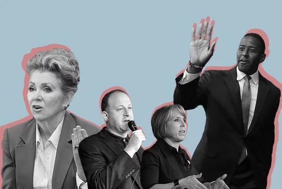 ▲2018中期選舉候選人羣像 圖自《時代》