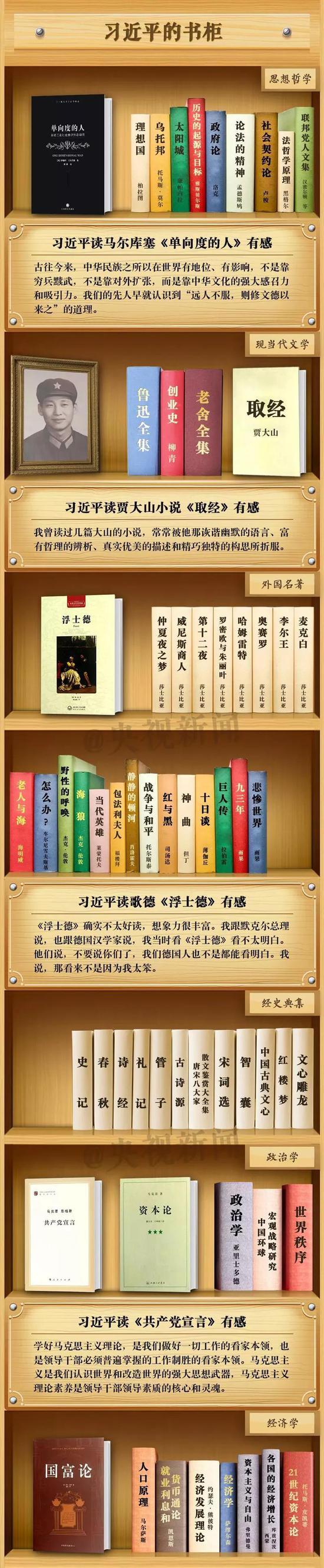 习近平:我最大的爱好就是读书