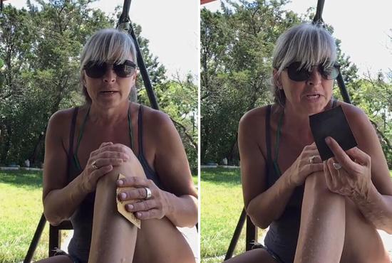 简单粗暴!女子发视频推荐网友用砂纸脱毛引争议