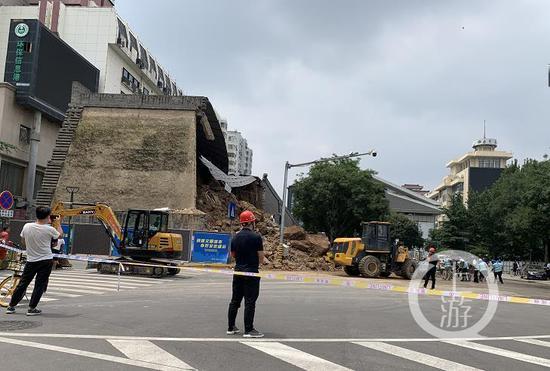 西安坍塌的20米城墙系保护砌体 文物本体未受到破坏