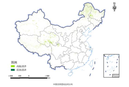 中科院团队发布30米分辨率中国湿地空间分布数据集图片