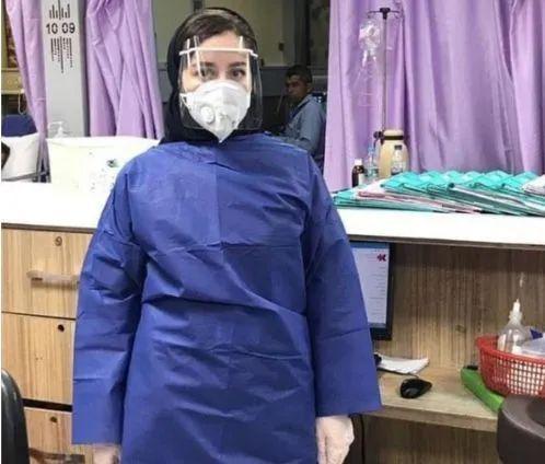 图为伊朗吉兰省25岁护士Narges Khanalizadeh,其同事称她于2月23日在医院发病,已经离世
