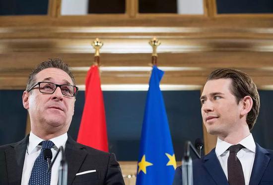 2017年12月库尔茨与施特拉赫进行组阁谈判 /视觉中国