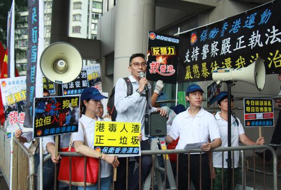 """早前,香港市民已对""""港独""""与其余分裂气力串连评释""""不可容忍不可迁就""""(图:大公网)"""