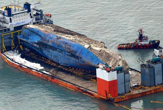 世越号船体残骸