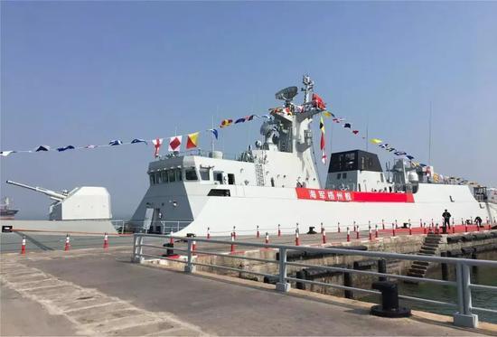 中国一个月就下水5艘主力舰 在世界范围都不寻常图片