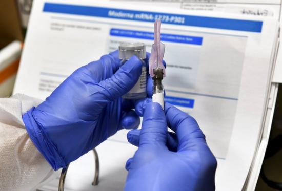 美国药企莫德纳:研发中的新冠疫苗有效性达94.5%