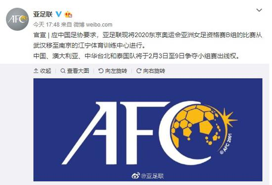 女足奥预赛武汉移至南京 足协成立疫情防控工作组图片