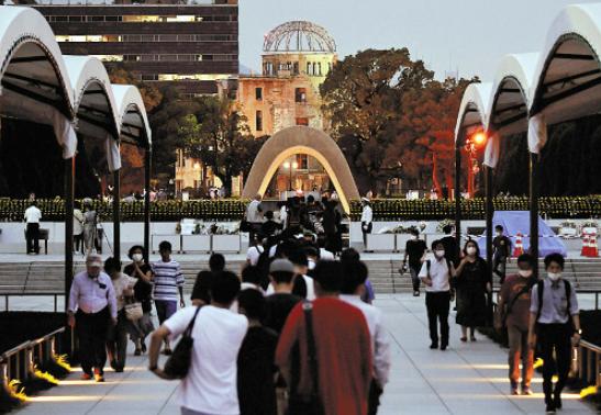 广岛核爆75周年纪念日 俄外长痛批美国