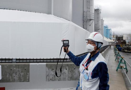 福岛污水存储空间即将耗尽 日政府将污水排入大海方案遭抗议图片