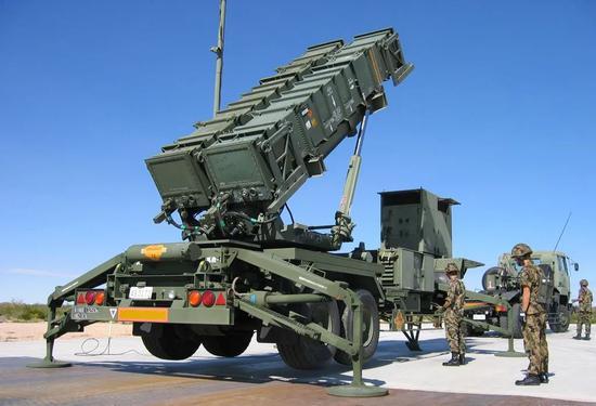 """""""爱国者""""3型导弹装备(图源:全球网)"""