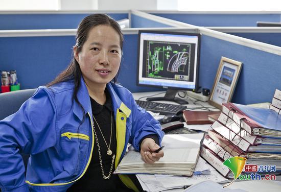 中国乙烯紧收缩机设计第壹人姜妍。己己己供图