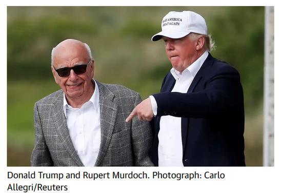 △《路透社》:默多克与特朗普私情甚笃