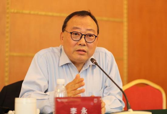 中国国际贸易学会专家委员会副主任李永。(夏宾/摄)
