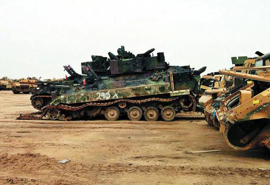 美国损失在伊拉克的装甲武器