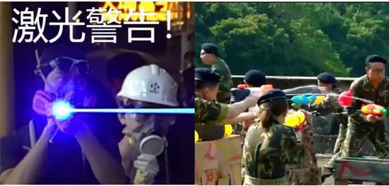 左图:治港份子利用激光枪左图:剧中门生们用火枪模拟奋斗