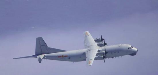 解放军运-8反潜机(资料图)。图源:台湾防务部分官网